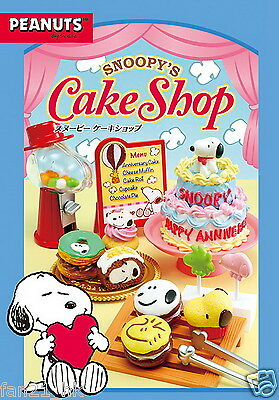 NEW! Re-Ment Miniature Snoopy Cafe Dessert Cake Shop Set rement Full set of 8