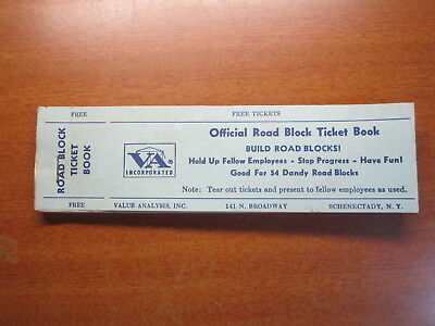 Road Block Ticket Official Book Complete 1 to 54 tickets