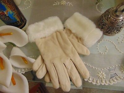 1940s Vintage Faux Fur and Suede Gloves