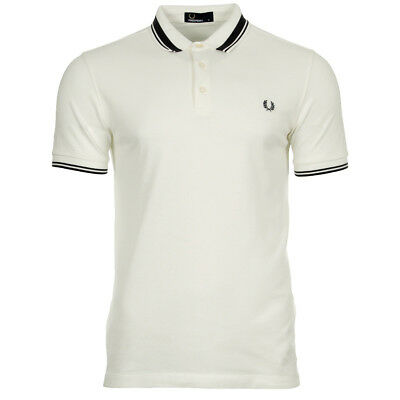 47fb54929b Vêtement Polos Fred Perry homme Contrast Tipped Pique Shirt taille Blanc  Coton