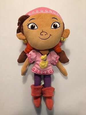 Disney Pirate Girl IZZY Plush Stuffed Doll Jake and the Never Land Pirates 11""