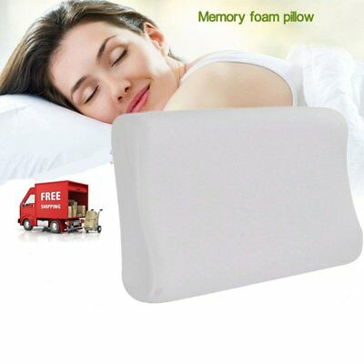 Luxury Bamboo Pillow Anti Bacterial Memory Foam Fabric Cover 50 X 30CM B~