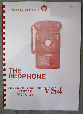 VICTA RED Public PAYPHONE Telecom Tooronga School Training Course 1978  9 Pages