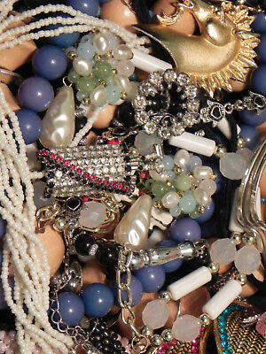Estate Sale Lot of Vintage to Modern Jewelry, Untested, #673  Some Signed