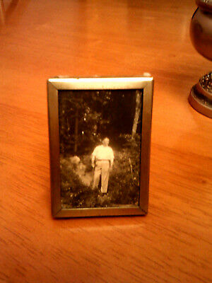 Antique Silver Plated Small Photograph Frame & Photo/vg/epns/jw