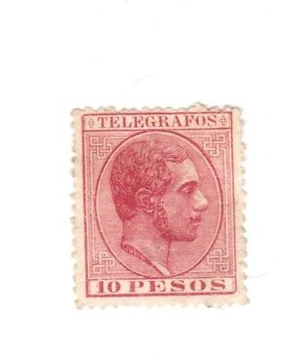 Spain Philippines Revenue Fiscal Cinderella Stamp 8-18- TWO SCANS