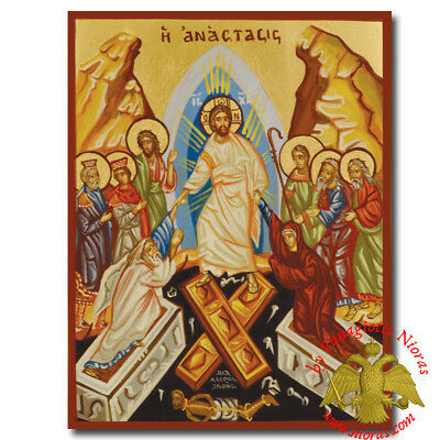 Orthodox Byzantine Icon Hagiography Resurrection of Jesus Christ Auferstehung