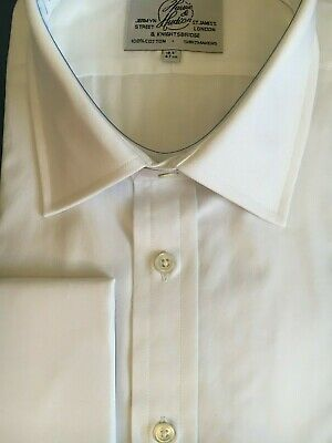 "Harvie /& Hudson 18/""//35/"" 2-Fold Cotton Pleated Dual Front Dress Shirt RRP £89.50"
