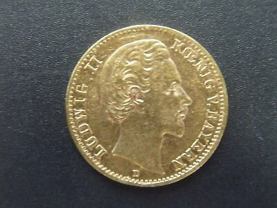 Bayern - 10 Mark - 1879 D - Ludwig II - Gold - ss - original - J.196