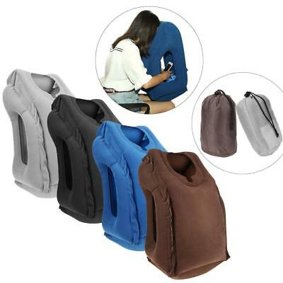 Portable Inflatable Pillow Body Back Support Travel Car Pillow Trip Head Cushion