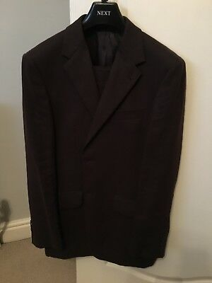 Next Linen Suit, Brown (trousers 32L, jacket 38L)