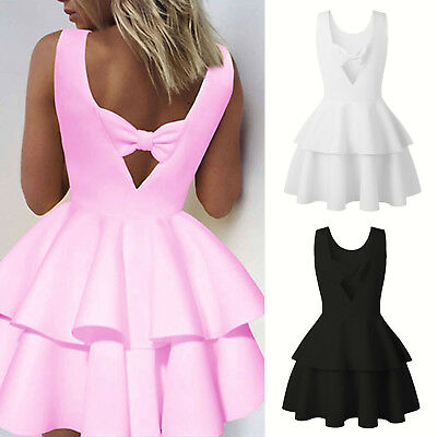 Womens Sleeveless Cocktail Evening Party Dress Casual Summer Short Mini Dresses
