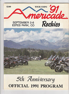 Vintage 1991 Americade Rally Estes Park Official Program with Bonus 1991