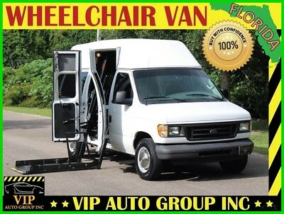 Ford E-Series Van Wheelchair Hightop 2003 Ford E-350 Handicap Wheelchair Van Hightop Mobility Power Ramp and Doors