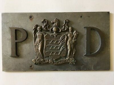 1910's 1920's New Jersey State Police License Plate AMAZING!! Old All Original