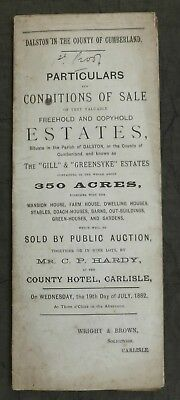 1882, Sale Particulars, Dalston, Carlisle (AT COUNTY HOTEL) Cumberland