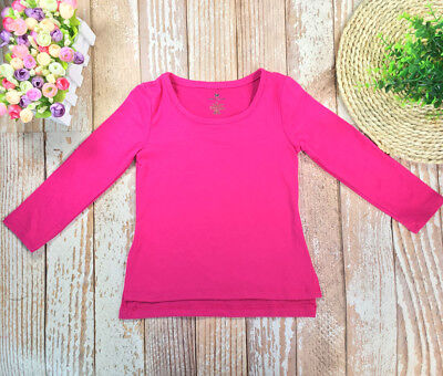 Toddler Kid Girls T-shirt Long Sleeve Tops Outfits Clothes Size 2T-L16