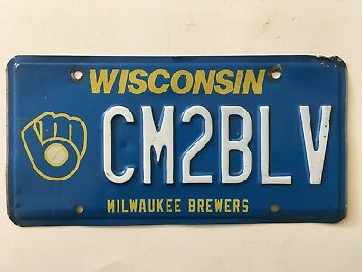 2012 Wisconsin Milwaukee Brewers License Plate RARE Graphic Optional MLB Special