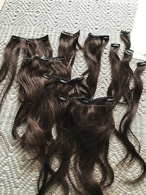 Hair (human) Extensions 10 Piece 18in In Chocolate Brown