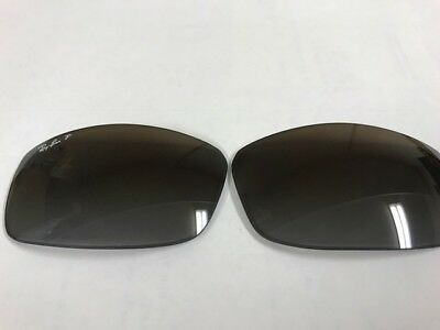 Ray-Ban 3498 61mm authentic lenses gray gradient brown polarized