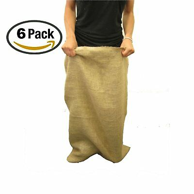 La Linen Burlap Potato Sack Race Bags 23 X 40 Pack Of 6