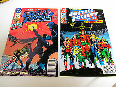 Lot 2*dc.comics*justice Society Of America*1991 # 7. &  # 8.v/g+ To F/f