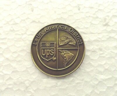 "UPS United Parcel Service ""Latin America District"" Pin in Bronze Color"