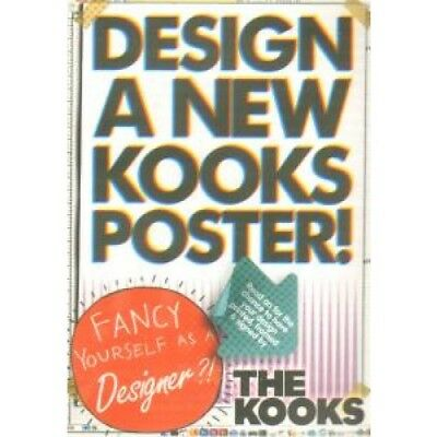 KOOKS Design A New Kooks Poster CARD UK Emi Double-Sided Promo Postcard For