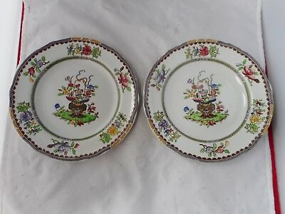"""TWO COPELAND SPODE""""OLD BOW""""SIDE PLATES(19cms diameter)Rd.no.599815"""