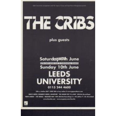 CRIBS Leeds University FLYER UK Original Single Sided Flyer Aprox 10 X 15 Cm