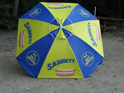 Original Brand New Sabrett Hot Dog Umbrella