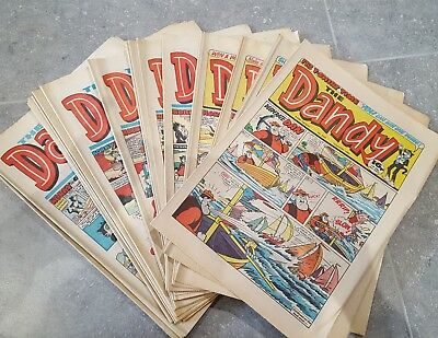 36 Copies Of The Dandy Comic From The 1980s