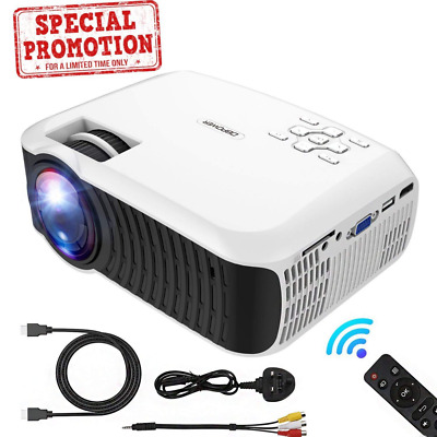 """Mini 176"""" Display LED Portable Video 1080P Projector, Compatiable with HDMI,USB"""
