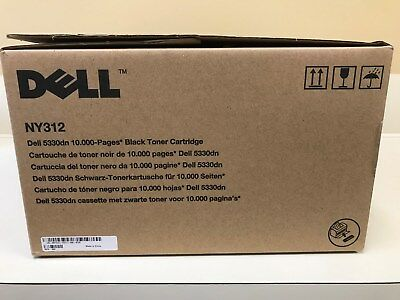 GENUINE Dell NY312 Black Toner Cartridge for Dell 5330dn, 10k pages OEM Sealed