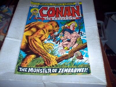 Conan The Barbarian # 28 J. Buscema Art Monster Of Zembabwe Issue Look Vf-