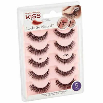 8e59c44a61d Kiss Looks So Natural Multipack 5 pair of Tapered End Lashes - Shy 62013  KFLM01