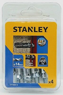 Stanley STF40814-XJ Bolt Shield Anchor for Concrete, Brick, Solid Block 4pk
