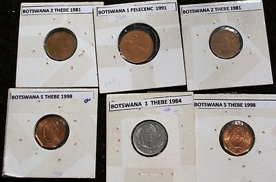 Botswana Collection of 6 coins