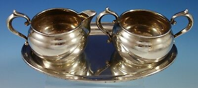 Old French by Gorham Sterling Silver Sugar and Creamer Set 3pc (#2782)