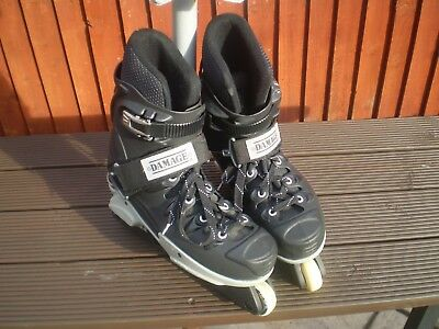 """AGGRESSIVE INLINE SKATES FROM """"DAMAGE"""" Size 8.5.GOOD CONDITION!!"""