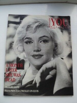 Vintage Marilyn Monroe Mail On Sunday Magazine - Last Picture Show - August 1987