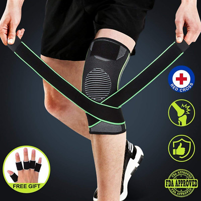 (5 Parks)Compression Sleeve with Strap Finger Sleeves Patella and LCL Knee Brace