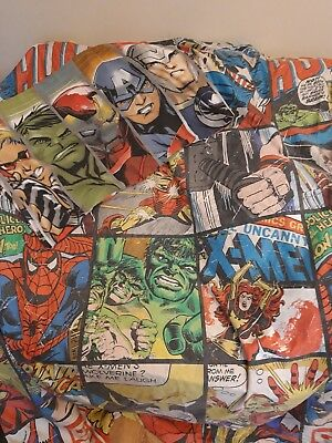 marvel comics single quilt cover and pillow case