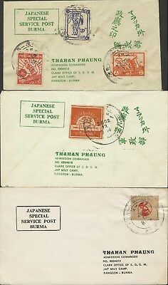 Burma / Japanese Occupation Covers Forgeries ?????? Used