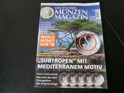 Deutsches Münzenmagazin 2 / 2018 u.a World Money Fair '18 PyeongChang Ahornblatt