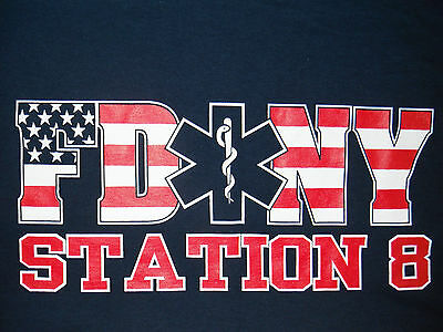 FDNY EMS Bellevue Battalion 8 T-Shirt (YL(1),S(9) Only)