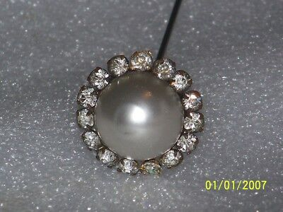 Vintage Victorian Antique Hat Pin With Beautiful Rhinestones
