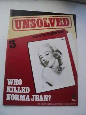 Vintage Marilyn Monroe Unsolved Murder Magazine - Who Killed Norma Jean? 1984
