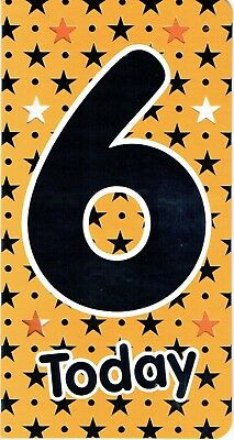 Quality 6 TODAY - 6th BIRTHDAY Card Age 6 - Stars Design