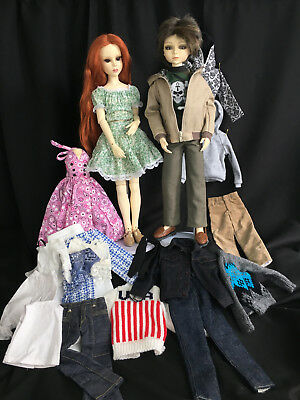 Goodreu MSD BJD Rumor & Schemer Pair + orig clothes & extras LOTS of Goodness